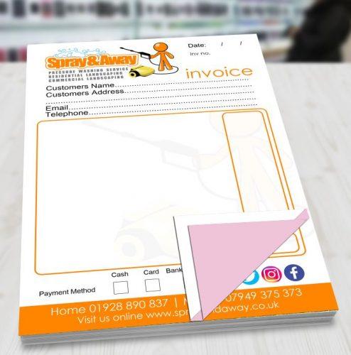 ncr duplicate invoice pads